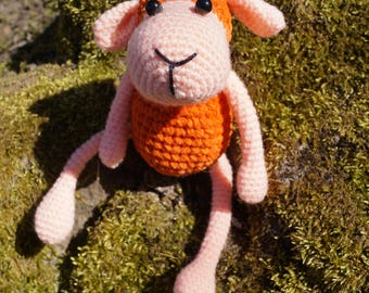A  sheep crocheted Toy Gift Baby toy