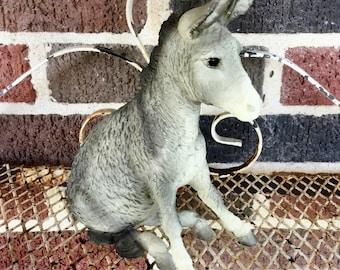 "Rare Vintage Breyer ""Brighty"" Sitting Donkey, #375, Breyer Horse Model Companions, Farm and Ranch Animal Figurines"