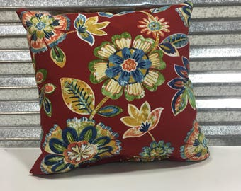 Dailyn Cherry 18x18 Outdoor Pillow