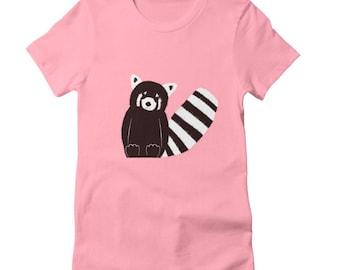 Red Panda Shirt - Animal Shirt - Cute Shirt - Printed Shirt - Animal Print - Unisex Shirt - Customizable Shirt - Girls Shirt