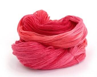 Handdyed MCN sock yarn, red fingering wool, semi-solid 4ply superwash merino cashmere knitting wool, Heart's Desire crochet yarn, uk seller