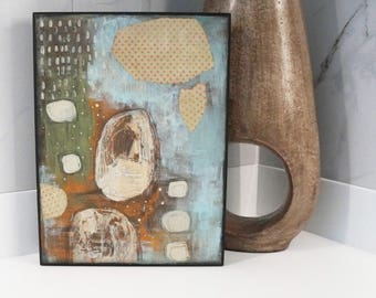 Acrylic Painting, Mixed Media Abstract Painting, Original Painting for the Office or Bedroom