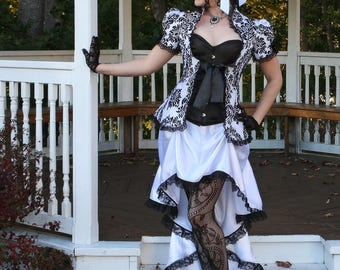 Gothic Temptation Victorian Bridal Gown - Ready to Ship