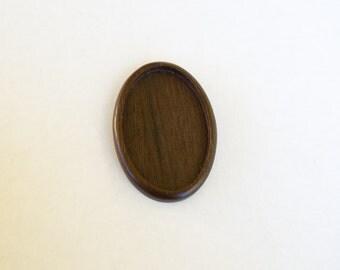 Large LIGHT bezel setting fine finished hardwood - Mahogany - 34 x 52 mm cavity - (A63c-W)