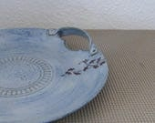 Serving Tray - Handmade Stoneware Ceramic Pottery - Sky Blue - Ginkgo