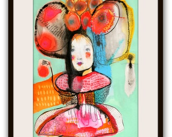 """Original Painting, Illustration Portrait Painting, Original Watercolor Painting - """"Seemed to Be"""""""