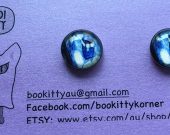 Doctor Who Starry Night Tardis Stainless Steel Stud Earrings 12mm