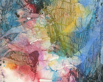 "Moon Goddess  Painting, Abstract Art, Original Wicca, Pagan Art, mixed media painting ""Moon Goddess 3"" by Kathy Morton Stanion EBSQ"