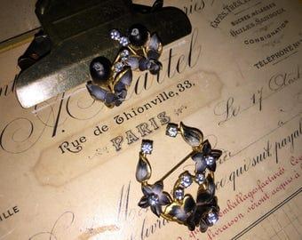 Vintage Austrian Brooch and Earring Set