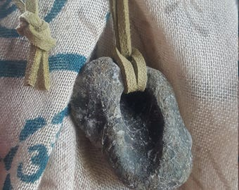 Hag Stone Necklace | Protection Amulets | Magical Talisman | Faerie Portal | Faery Amulet| Fairy Charm | Holey Stones | Occult Supplies