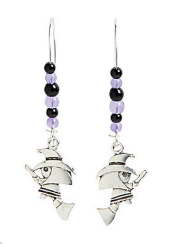 Flying Witch Earrings