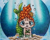 1570 Millie Mermaid Digi Stamp  ATC Swap Sale