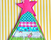 Hanging Patchwork Christmas Tree Ornament/Decor (free shipping option)