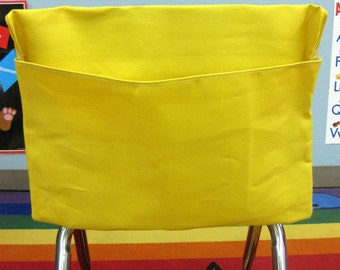 1 YeLLOW Classroom Chair Pockets Seat Sacks Desk Organizer Chair Bag Durable Washable Duck Cloth Chair Pocket Factory YOU CHOOSE the SiZE
