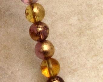 Czech Glass Druk Beads, 6mm Round, Venetian Mix, 25 Pc. C500