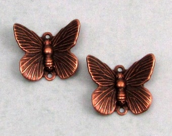 Butterfly Connector, Antique Copper, 2 Pieces, AC176