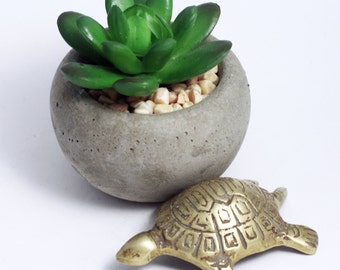 Vintage Brass Turtle Figurine, Miniature Animal