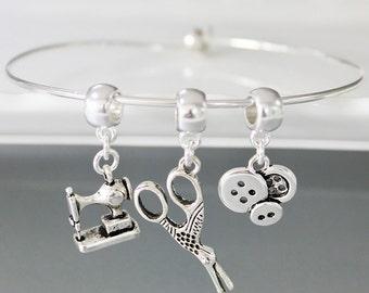 Sewing Diva Charm Bracelet