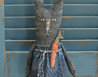 Primitive Springtime Easter Bunny Rabbit Doll