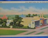 Postcard RCA Building New York World's Fair 1939  Linen