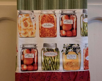 Canning preserving farmers market tea towel