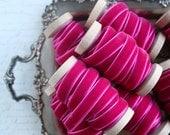 """Fuchsia Velvet Ribbon, , 3/8"""" Velvet Ribbon, 3 yards, Velvet Ribbon Spool, 3 yards, Fuchsia Ribbon, Floral Ribbon"""
