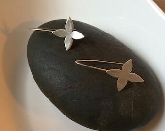 Sterling Silver Dogwood Earrings