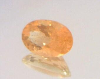 Peach Oregon Sunstone with Copper Shiller Precision 8.9x6.1mm Oval 1.52 carat