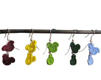 Mickey Earrings - Choose a  Color