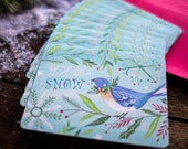 Let it Snow greeting cards | Christmas Cards | Holiday Notecards | Katie Daisy