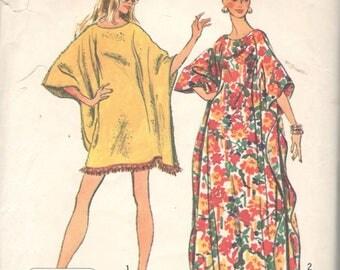 Simplicity 5628 1970s Jiffy Misses CAFTAN Pattern 2 Lengths UNCuT One Size Womens Vintage Sewing Pattern NO ENVELOPE