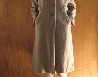 1970s camel WOOL PRINCESS coat, m