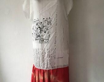 Fuck you Fashion dress handmade handprinted tunic