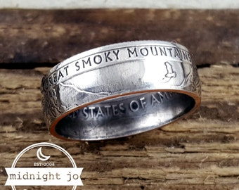 Coin Ring Great Smoky Mountains National Park Quarter Your Size MR0705-TNPGS