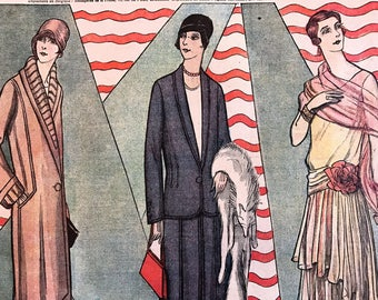 1920's French Magazine FASHION  Le Petit Echo de la Mode March 11 1928