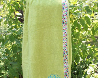 Lime - Spa Wrap Towel with SNAPS - Graduation / BRIDESMAIDS / Girls Trip Gifts / New Mom