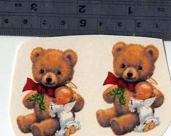 Decals for Ceramic, Teddy with Angel, Teddy bears, Vintage, Retro, Cute