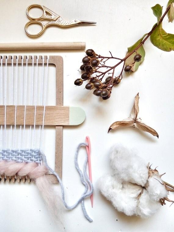 Wall Art Loom Kit : Weaving loom kit for hand wall art