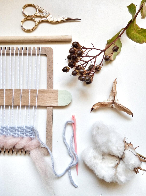 Kit telaio per tessitura arte della parete a mano di for Kit per baule logati a mano