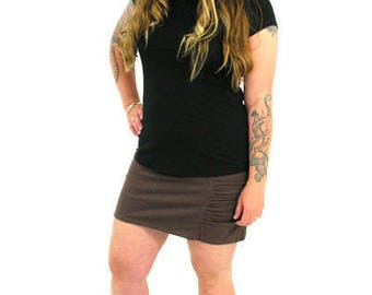 Comfy Gathered Mini - XL - ESPRESSO - Hemp/Organic Cotton/Lycra