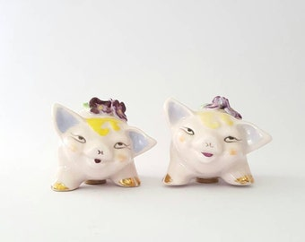 Ceramic Pig Salt and Pepper Shakers