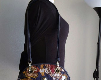 Navy Blue Belts and Chains CAPEZIO Shoulder Bag