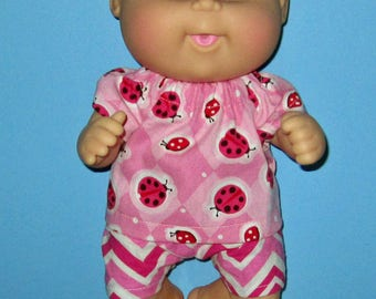 Cabbage Patch, Newborn Surprise, Teeny Tiny Preemies,  Lady Bug Top And Short  ,  10 inch  Doll Clothes, Cabbage Patch 12 inch Newborn doll
