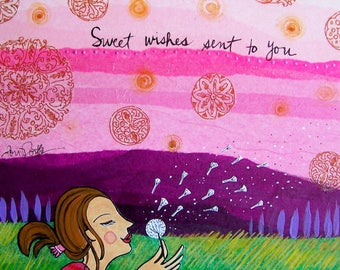Greeting Card : Sweet Wishes