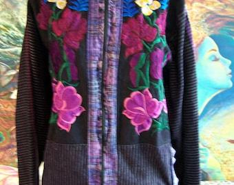 Guatemala Jacket, Boho jacket, Gypsy jacket, Guatemala Coat, size XL