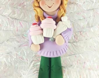Gift for Baker - Cupcake Baker Christmas Ornament - Cupcake Baker's Gift - Cupcake Maker Ornament - Baker's Gift - Baker Ornament - 1102