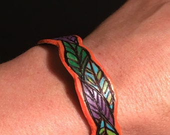 "Bracelet ""Parade of Leaves"""