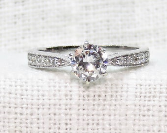 Vintage 14k Gold Diamond Engagement Ring .86 Carats