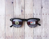 VINTAGE | Sunglasses | Clubmaster Style Reflective Sunglasses | Deadstock SG1253