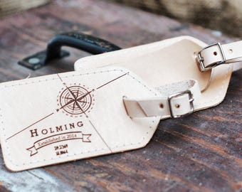 Husband Gift for Groom, 3rd wedding anniversary gift ideas, personalized gifts for him, gifts for couple, Wedding Favor Luggage Tags
